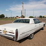 Old Sedan de Ville Cadillac on Route 66 in Tucumcari, New Mexico