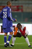 Fotball<br /> UEFA Cup<br /> Foto: Graffiti/Digitalsport<br /> NORWAY ONLY<br /> <br /> Roma 24/11/2005 <br /> <br /> Roma v Strasbourg 1-1<br /> <br /> Disperazione di Shabani Nonda dopo un gol mancato