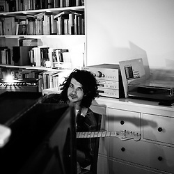 """Beach House, playing at a """"Soiree de Poche"""", an event organized by La Blogotheque in someone's appartment. Paris, France. December 2009, 3. Photo: Antoine Doyen"""