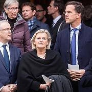 NLD/Rotterdam/20180220 - Herdenkingsdienst Ruud Lubbers, Mohammed Aboutaleb en Minister-president Mark Rutte