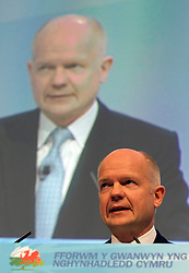 "© under license to London News Pictures. 06/03/2011: William Hague addresses the audience at the Conservative Party's Spring Forum in Cardiff. Credit should read ""Joel Goodman/London News Pictures""."