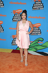 INGLEWOOD, CA - MARCH 24: Mel B. attends Nickelodeon's 2018 Kids' Choice Awards at The Forum on March 24, 2018 in Inglewood, California. Credit: Faye Sadou / MediaPunch. 24 Mar 2018 Pictured: Laurie Hernandez. Photo credit: FS/MPI/Capital Pictures / MEGA TheMegaAgency.com +1 888 505 6342