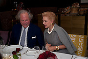 GRAYDON CARTER; CAROLINA HERRERA;, Graydon and Anna Carter host a lunch for Carolina Herrera to celebrate the ipening of her new shop on Mount St. .The Connaught. London. 20 January 2010