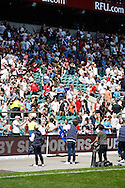 Picture by Andrew Tobin/Focus Images Ltd +44 7710 761829.26/05/2013.O2 Angels fire freebies into the crowds at half time during the match between England and the Barbarians at Twickenham Stadium, Twickenham.