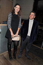 FEDERICA FANARI and LUCA DEL BONO at a dinner hosted by Marlon & Nadya Abela at Cassis 232-236 Brompton Road, London to thank customers & friends for their custom held on 9th February 2012.