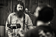 Waylon Speed recording an album at the Barn in Vermont.