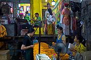 Chinese opera performed in the Bangkok Flower Market ( Pak Khlong Talat )