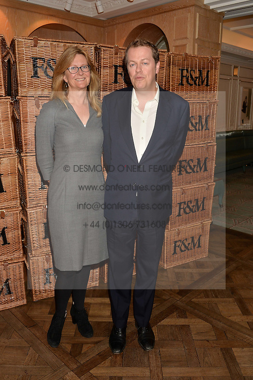 KATE HOBHOUSE Chairman of Fortnum & Mason and TOM PARKER BOWLES at a party to celebrate the publication of 'Let's Eat meat' by Tom Parker Bowles held at Fortnum & Mason, Piccadilly, London on 21st October 2014.