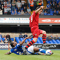 Photo: Ashley Pickering.<br /> Ipswich Town v Cardiff City. Coca Cola Championship. 06/05/2007.<br /> Steven Thompson of Cardiff (R) is tackled by Fabian Wilnis of Ipswich