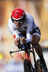 September 20, 2017 - Bergen, NORWAY - 170920 Rui Costa of Portugal competes during the Men Elite Individual Time Trial on September 19, 2017 in Bergen..Photo: Jon Olav Nesvold / BILDBYRN / kod JE / 160023 (Credit Image: © Jon Olav Nesvold/Bildbyran via ZUMA Wire)