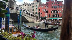 Gondola at the Ponte di Rialto, Venice, Italy.<br /> (iPhone image)<br /> Photo: Ed Maynard<br /> 07976 239803<br /> www.edmaynard.com