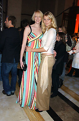 Left to right, model, JADE PARFITT and model JODIE KIDD at the 2005 Lancome Colour Design Awards in association with CLIC Sargent Cancer Care for Children held at the Freemasons' Hall, Great Queen Street, London on 23rd November 2005.<br />
