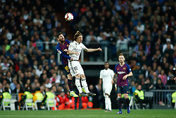 March 2, 2019 - Madrid, MADRID, SPAIN - Lionel (Leo) Messi of FC Barcelona and Luka Modric of Real Madrid during the spanish league, La Liga, football match played between Real Madrid and FC Barcelona at Santiago Bernabeu Stadium in Madrid, Spain, on March 02, 2019. (Credit Image: © AFP7 via ZUMA Wire)