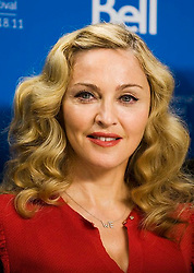 "Director Madonna stands for a photo at a press conference promoting her new film ""W.E."" at the TIFF Lightbox during the Toronto International Film Festival in Toronto, ON, Canada, on Monday Sept. 12, 2011. Photo by Aaron Vincent Elkaim/CP/ABACAPRESS.COM  