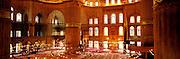 TURKEY, ISTANBUL, OTTOMAN Blue Mosque; interior prayer hall