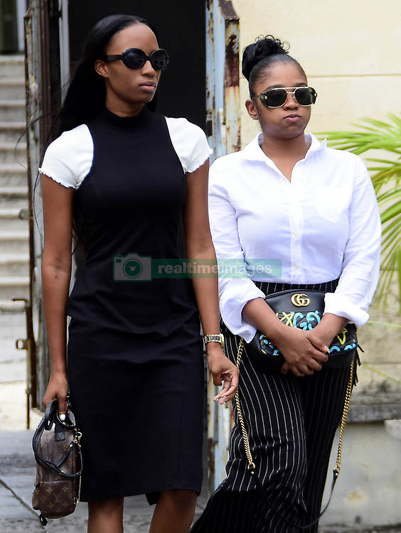 EXCLUSIVE: A man has appeared in court accused of the murder of Rihanna's cousin in Barbados. Shawayne Williams is accused of shooting 21-year-old Tavon Kaiseen Alleyne multipls times in the parish of St Michael on Dec 26. The victim was rushed by private vehicle to the Queen Elizabeth Hospital, but later died of his injuries. Superstar Rihanna has added her voice to the chorus of calls for an end to rising gun violence on the island, in the wake of 30 murders, including 23 that were gun-related last year. Also in court were Alleyne's sister, Tanella Alleyne, and cousin Noella Alstrom, who is the mother of Rihanna's belowed god-daughter Majesty. Williams' mother Regima also attended the hearing in the island's capital Bridgetown. 03 Jan 2018 Pictured: Tanella Alleyne (left) and Noella Alshom. Photo credit: MEGA TheMegaAgency.com +1 888 505 6342