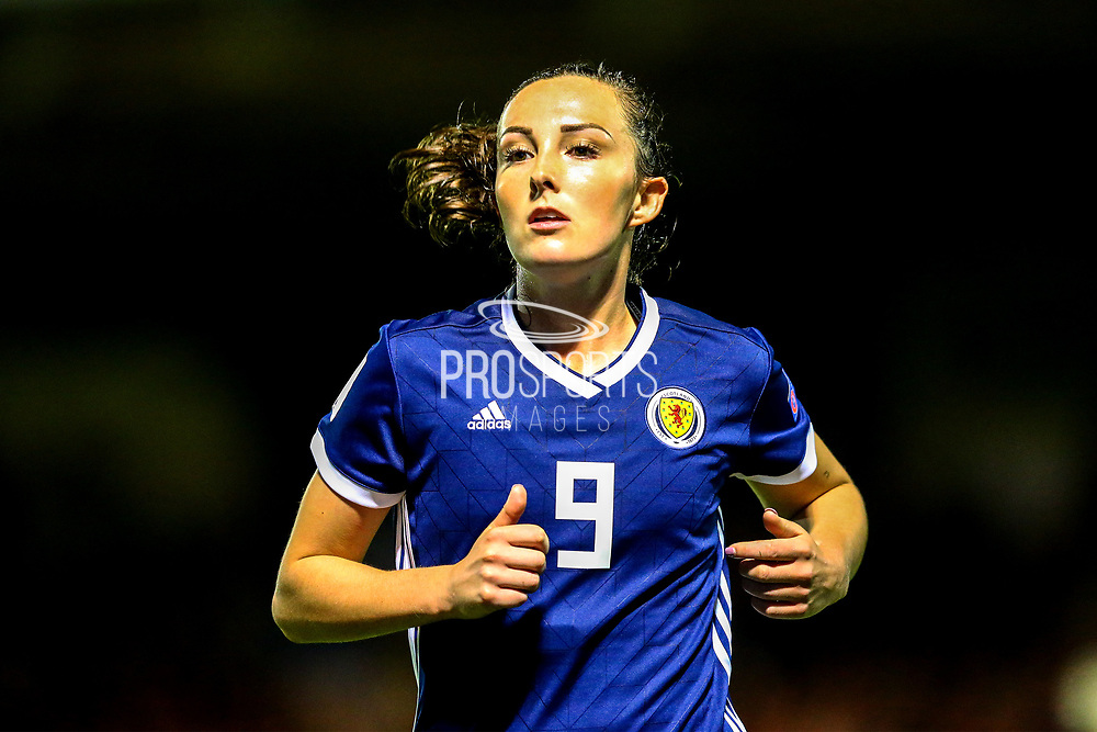 Caroline Weir (#9) of Scotland during the 2019 FIFA Women's World Cup UEFA Qualifier match between Scotland Women and Switzerland at the Simple Digital Arena, St Mirren, Scotland on 30 August 2018.