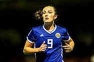 Caroline Weir (#9) of Scotland during the 2019 FIFA Women's World Cup UEFA Qualifier match between Scotland Women and Switzerland at the Simple Digital Arena, St Mirren, Scotland on 30 August 2018.