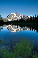 Mount Shuksan and Picture Lake at the Mount Baker-Snoqualmie National Forest in Washington State, USA