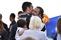 Gianluigi Buffon and Gonzalo Higuain<br /> Esultanza Juventus Campione d'Italia . Celebration Juventus Italian championship winner <br /> Torino 21-05-2017 Juventus Stadium Football Calcio Serie A 2016/2017 Juventus - Crotone .<br /> Foto Insidefoto