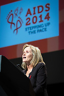 20th International AIDS Conference (AIDS 2014). International AIDS Society, at the Exhibition Centre, Melbourne, Australia. <br /> <br /> Photo shows: Sharon Lewin<br /> Photo © Steve Forrest/Workers' Photos