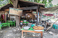 Small local restaurant in Mingun near Mandalay, Burma