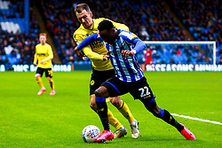 Jed Wallace of Millwall puts pressure on Moses Odubajo of Sheffield Wednesday - Mandatory by-line: Ryan Crockett/JMP - 01/02/2020 - FOOTBALL - Hillsborough - Sheffield, England - Sheffield Wednesday v Millwall - Sky Bet Championship