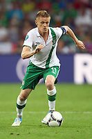 Football - European Championships 2012 - Republic of Ireland vs. Italy<br /> Damien Duff of Ireland during the game in which he earns his 100th cap at the Municipal Stadium, Poznan