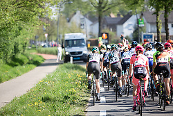 Cecilie Uttrup Ludwig (DEN) of Bigla Pro Cycling Team requests assistance during the Amstel Gold Race - Ladies Edition - a 126.8 km road race, between Maastricht and Valkenburg on April 21, 2019, in Limburg, Netherlands. (Photo by Balint Hamvas/Velofocus.com)