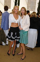 Left to right, sisters The HON.SOPHIA HESKETH and the HON.FLORA HESKETH at the 2005 Cartier International Polo between England & Australia held at Guards Polo Club, Smith's Lawn, Windsor Great Park, Berkshire on 24th July 2005.<br /><br />NON EXCLUSIVE - WORLD RIGHTS