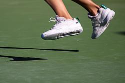 PORTOROZ, SLOVENIA - SEPTEMBER 17: A feature of legs and shadow during WTA 250 Zavarovalnica Sava Portoroz at SRC Marina, on September 17, 2021 in Portoroz / Portorose, Slovenia. Photo by Matic Klansek Velej / Sportida