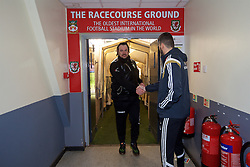 WREXHAM, WALES - Monday, May 2, 2016: The New Saints' manager Craig Harrison walks back to the dressing room after the 2-0 victory over Airbus UK Broughton during the 129th Welsh Cup Final at the Racecourse Ground. (Pic by David Rawcliffe/Propaganda)