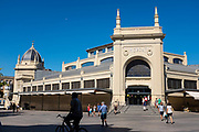 Central Market of Sabadell, Barcelona, Catalonia. Designed between 1927 and 1930 by local architect Josep Renom i Costa.