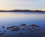 Stones near shore at Tupper Lake, Adirondack Mountains, New York, USA