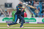 Jonny Bairstow (Yorkshire Vikings) gets his first boundary of the game during the Royal London 1 Day Cup match between Yorkshire County Cricket Club and Lancashire County Cricket Club at Headingley Stadium, Headingley, United Kingdom on 1 May 2017. Photo by Mark P Doherty.