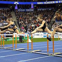 14.02.2020, Mercedes Benz Arena, Berlin, GER, ISTAF-Indoor 2020 Berlin, im Bild <br /> 60m Hurdles Women<br /> Tobi Amüsant (NGR)<br /> <br />      <br /> Foto © nordphoto / Engler