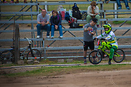 #68 (BUCHANAN Caroline) AUS talking to Barry Nobles at the 2014 UCI BMX Supercross World Cup in Santiago Del Estero, Argentina.