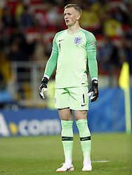 goalkeeper Jordan Pickford of England during the 2018 FIFA World Cup Russia round of 16 match between Columbia and England at the Spartak stadium  on July 03, 2018 in Moscow, Russia