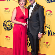 NLD/Scheveningen/20161030 - Premiere musical The Lion King, Hugo Haenen en partner Anke Knottenbelt