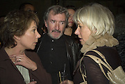 Zoe Wanamaker, Gawn Grainger and Helen Mirren, Discover Wilton's Music Hall, Fundraising event. Graces alley, Ensign St. London. 5 December 2007. -DO NOT ARCHIVE-© Copyright Photograph by Dafydd Jones. 248 Clapham Rd. London SW9 0PZ. Tel 0207 820 0771. www.dafjones.com.