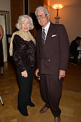 Left to right, actress PEGGY CUMMINS and NICKY HASLAM at a party to celebrate the publication of  'I Used to be in Pictures' an untold story of Hollywood by Austin Mutti-Mewse and Howard Mutti-Mewse held at The Lansdowne Club, London on 6th March 2014.