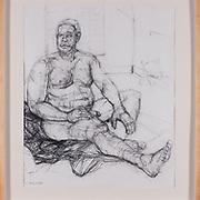 "Title: Deconstructing Blind Man<br /> Artist: Daniel Fielder<br /> Date: 2002<br /> Medium: Charcoal<br /> Dimensions: 31 x 33""<br /> Instructor: Melanie Hickerson<br /> Status: Available<br /> Location: HLC4000 Storage"