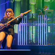 COLUMBIA, MD - June 18th, 2013 - Jenny Lewis, and Jimmy Tamborello of the Postal Service perform at Merriweather Post Pavilion in Columbia, MD on their 10th Anniversary Give Up tour. (Photo by Kyle Gustafson)