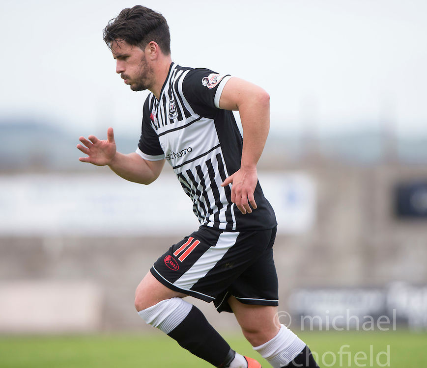 Elgin City's Daniel Moore. <br /> East Fife 2 v 1 Elgin City, Ladbrokes Scottish Football League Division Two game played 22/8/2015 at East Fife's home ground, Bayview Stadium.