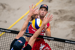 Anders Mol NOO in action during the last day of the beach volleyball event King of the Court at Jaarbeursplein on September 12, 2020 in Utrecht.