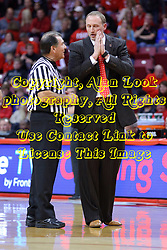 03 December 2016:  Tom O'Neill and Dan Muller, Head Coach during an NCAA  mens basketball game between the New Mexico Lobos the Illinois State Redbirds in a non-conference game at Redbird Arena, Normal IL