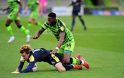 Arthur Read of Stevenage is fouled by Jamille Matt of Forest Green Rovers- Mandatory by-line: Nizaam Jones/JMP - 17/10/2020 - FOOTBALL - innocent New Lawn Stadium - Nailsworth, England - Forest Green Rovers v Stevenage - Sky Bet League Two