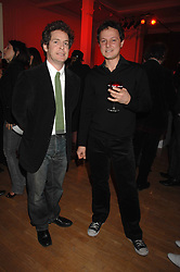 Left to right, actor TOM HOLLANDER and artist JONATHAN YEO at the Art Plus Drama party Held at the Whitechapel Art Gallery, London E1 on 8th March 2007. <br /><br />NON EXCLUSIVE - WORLD RIGHTS