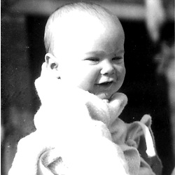 HS479     George W. Bush as a baby in Connecticut, April 1947.<br /> Photo Credit:  George Bush Presidential Library