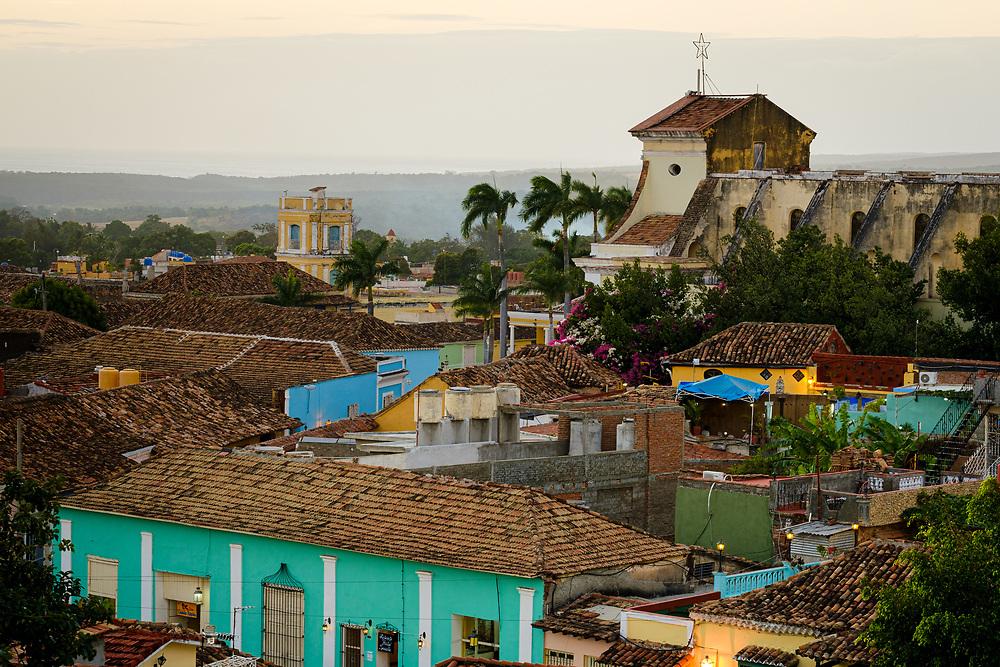 TRINIDAD, CUBA - CIRCA JANUARY 2020: View of colonial rooftops of Trinidad